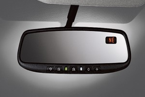 Auto-Dimming Rear View Mirror with Compass image for your Nissan